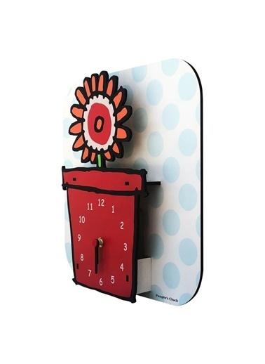 Peoples Clock Saksı Özel Tasarım Duvar Saati Renkli
